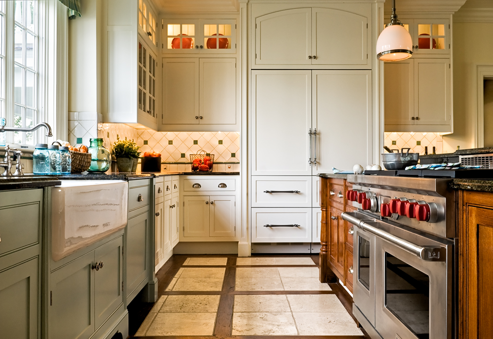 Kitchen With Lit Cabinets