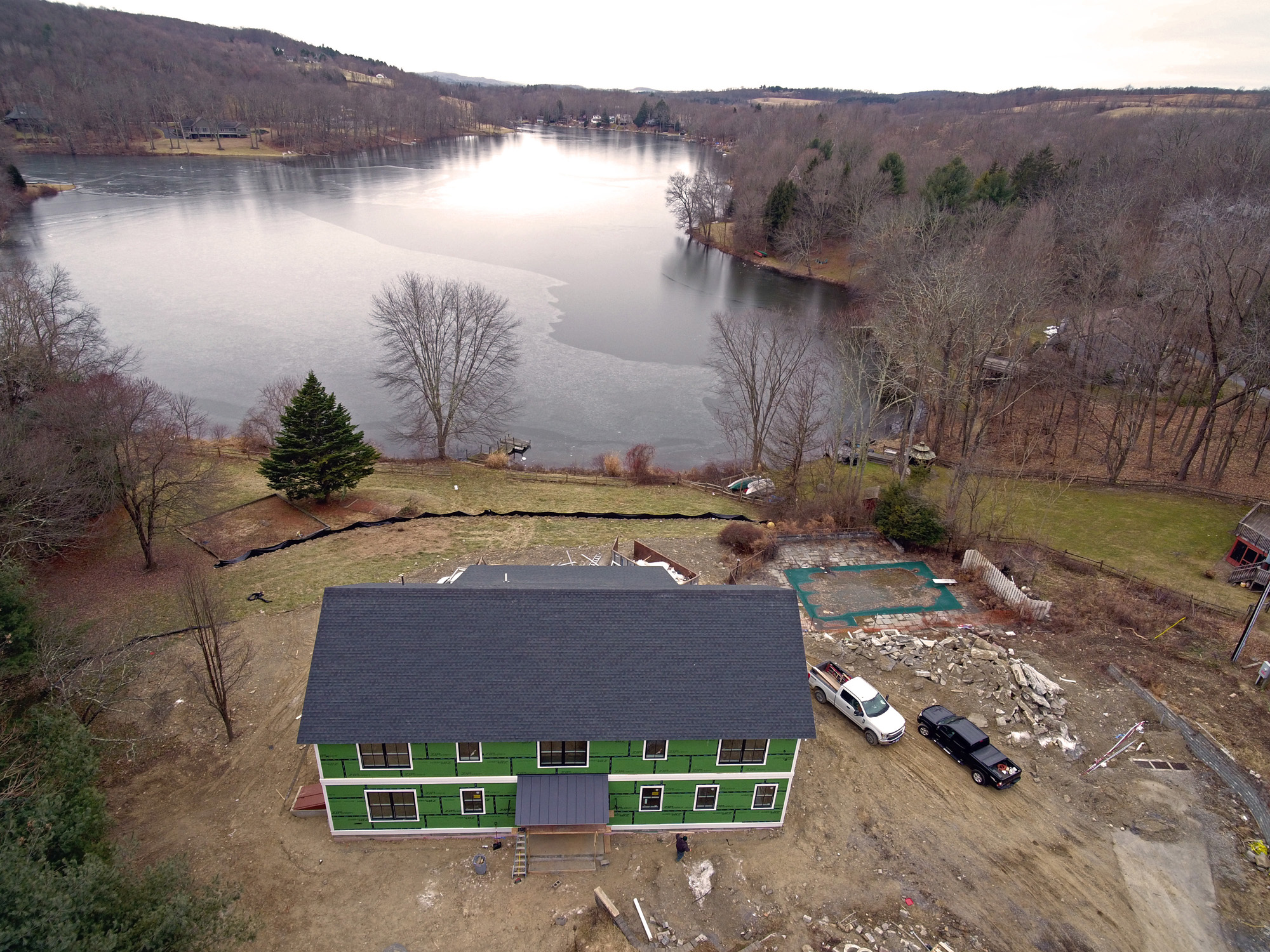 Lake Home Under Construction