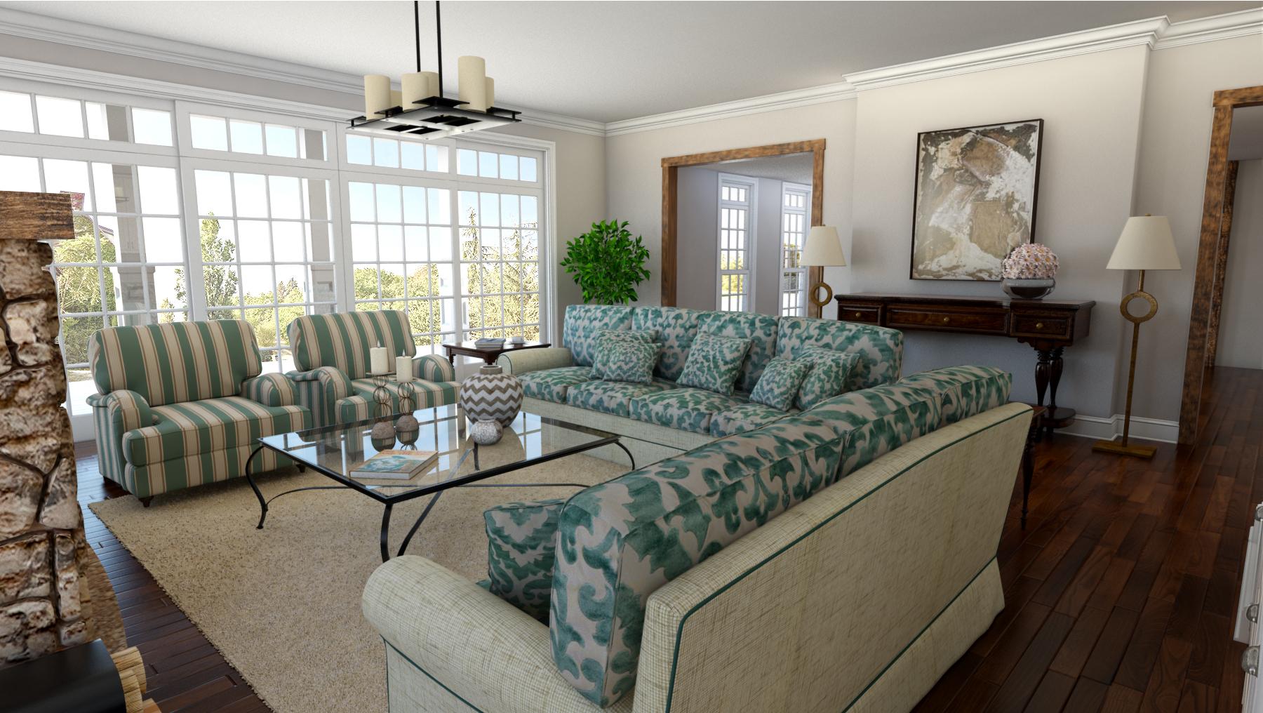 Living Room (3D Rendering)