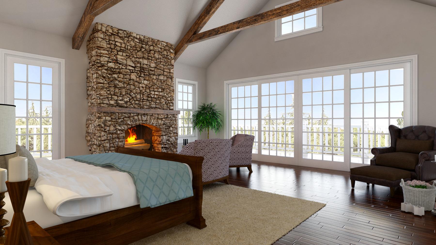 Bedroom (3D Rendering)