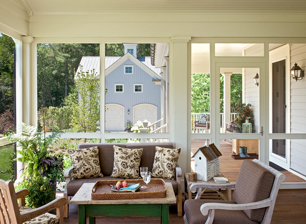 Screened Porch with Metal Roof