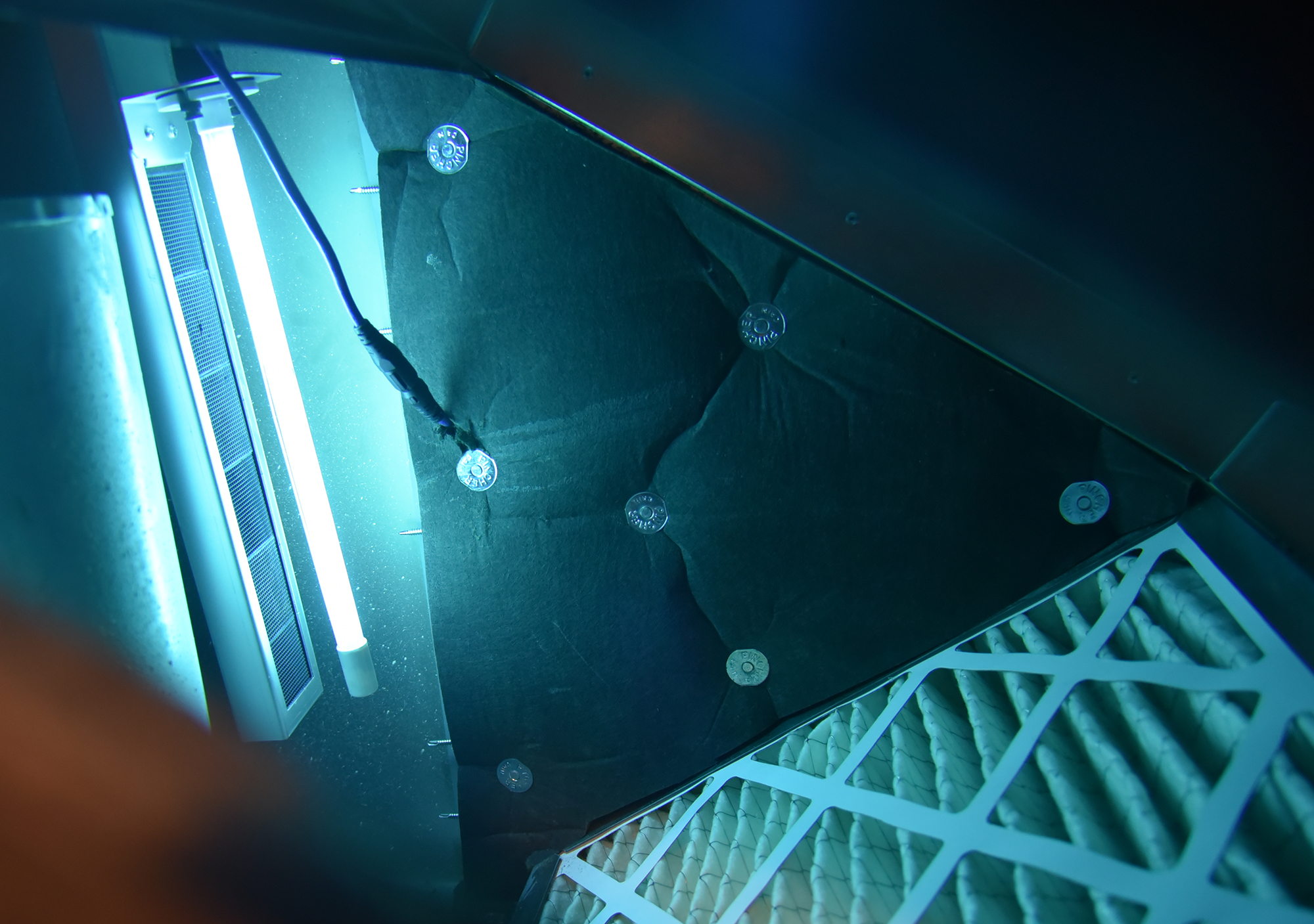 UV Light and Filter Inside Plenum
