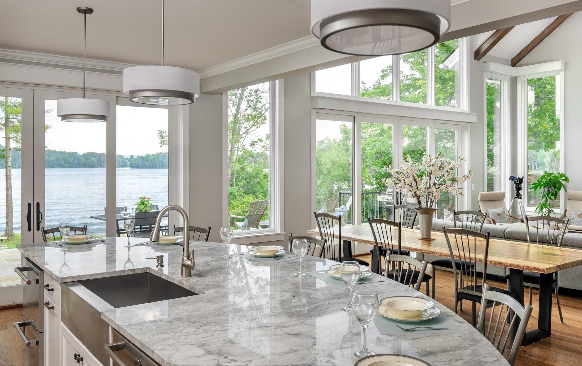 Kitchen Overlooking Dining/Living Room
