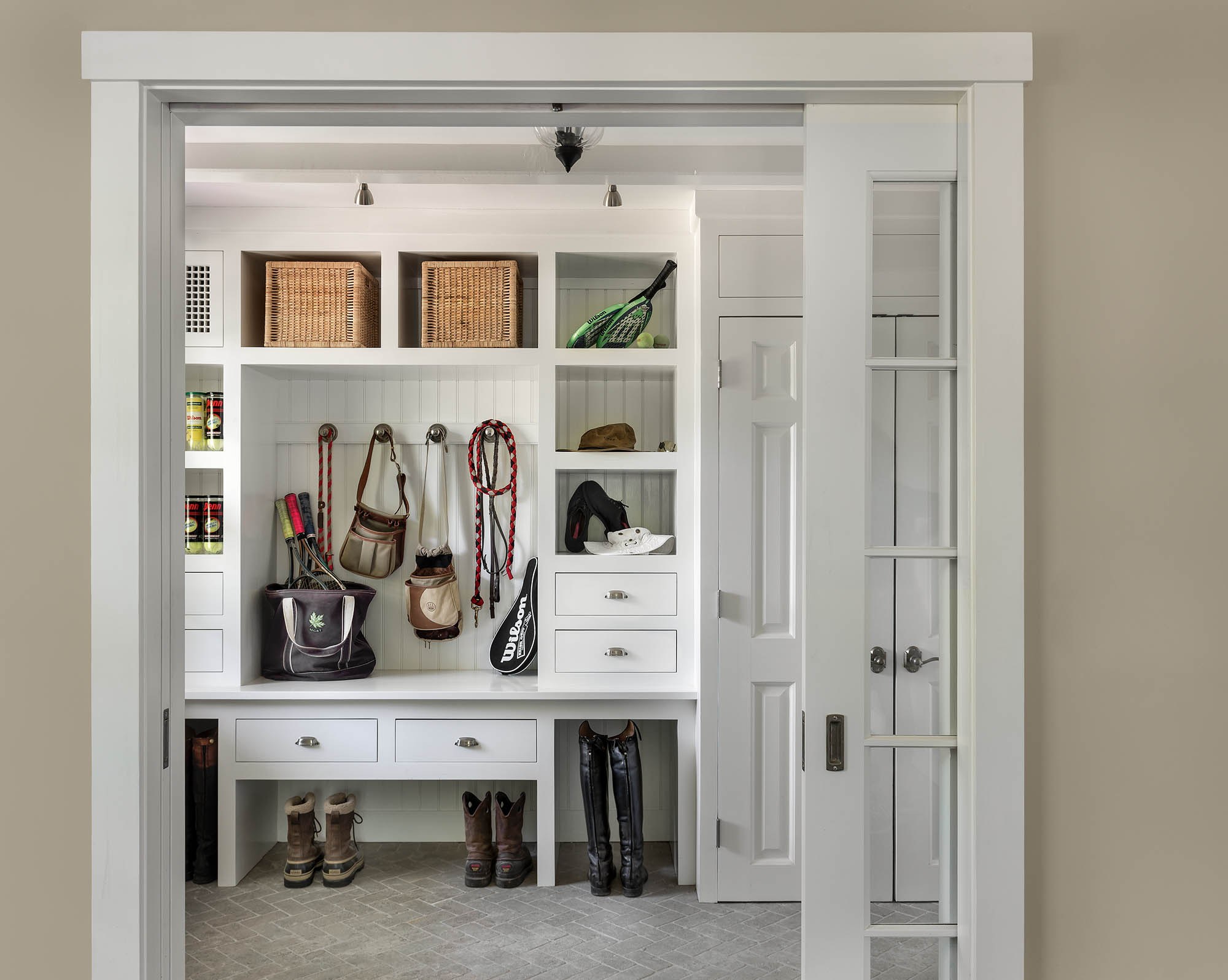 Mudroom with Boot Storage