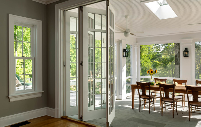 Screened Porch with Folding Doors