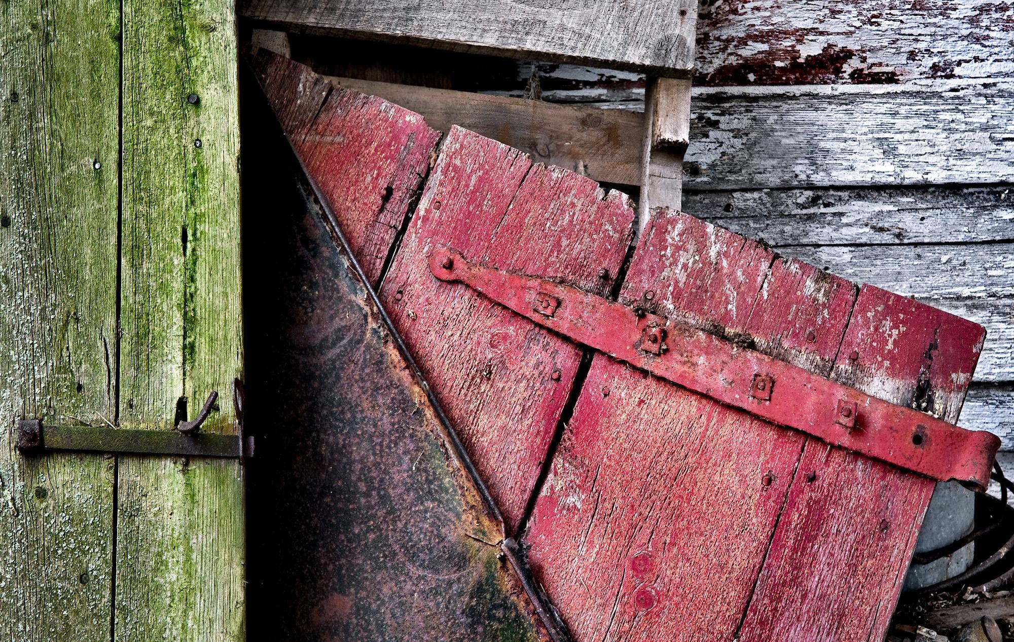 Abandoned Farm Doors