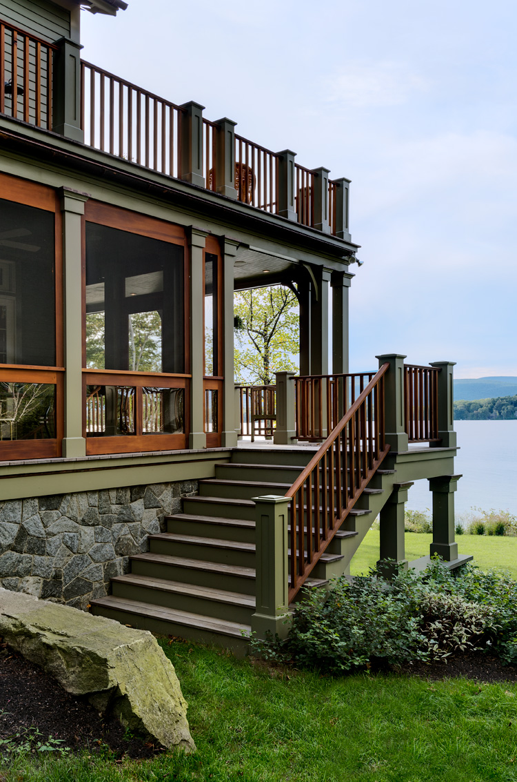Steps to Lake Home Screened Porch