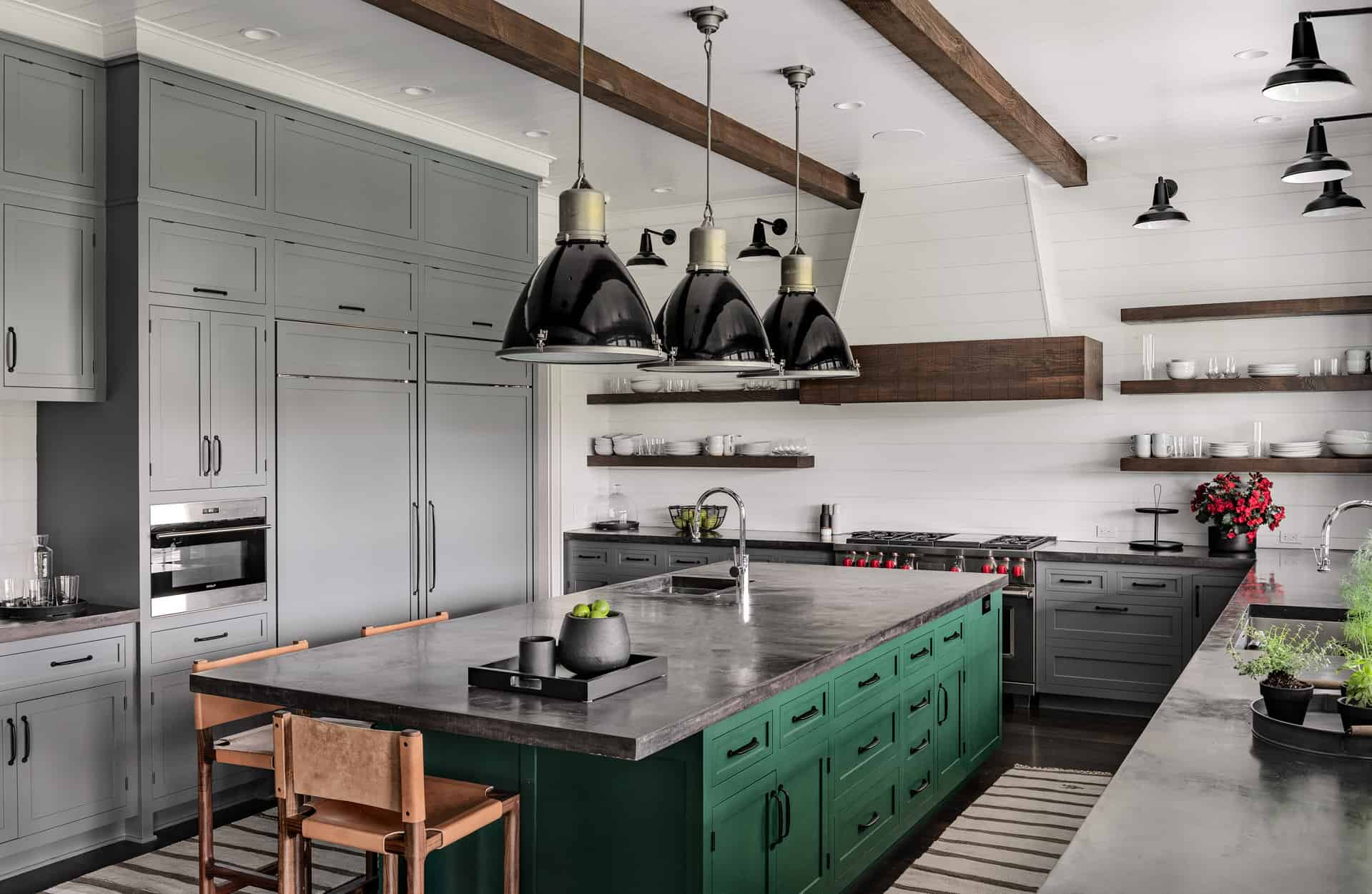 Grey Cabinets and Countertops